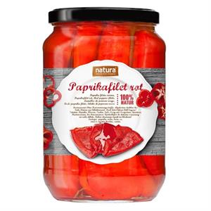 Paprika filet rood 720 ml -Natura